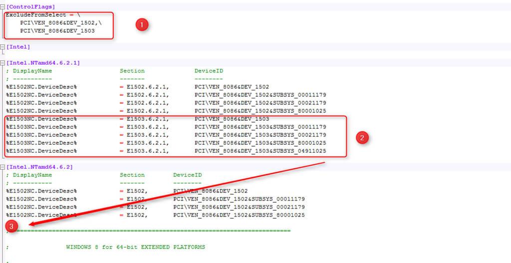 Installer le driver du controleur Intel 82579V sous Windows Server 2012