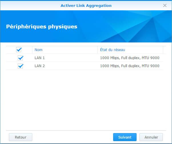 Configurer et tester l'agrégation de liens sur un Synology