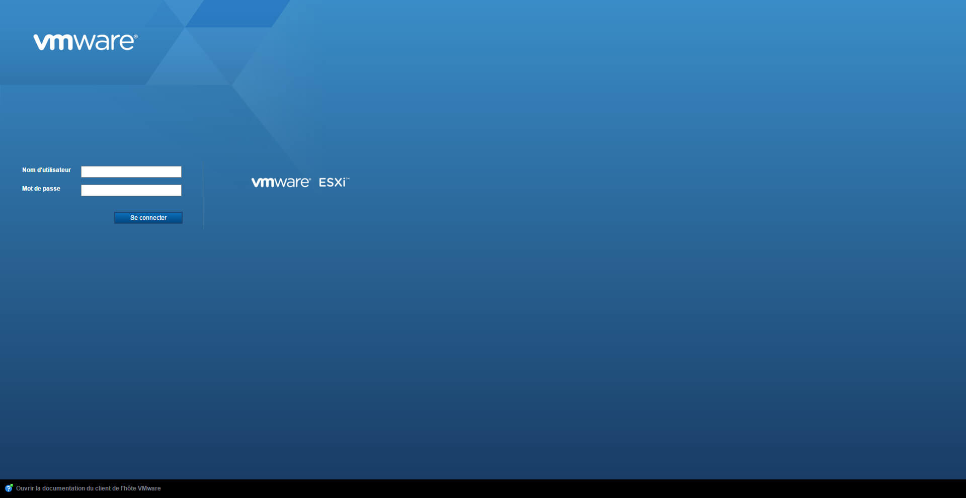 Interface web gratuite pour ESXI